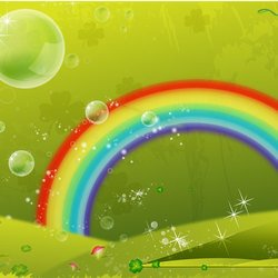 CLOVER LEAF RAINBOW VECTOR BACKGROUND.ai