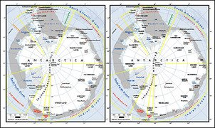 Vector map of the world exquisite material - Antarctica Map