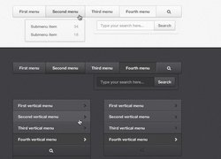 Black and White Navigation Menus