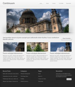 Continuum Website Template (PSD)