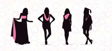 Fashionable Women Silhouettes Set 2