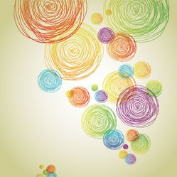 Abstract Pencil Scribble Circle Background (Free)