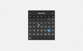 Dark Formal Calendar PSD