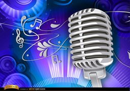 Microphone musical background