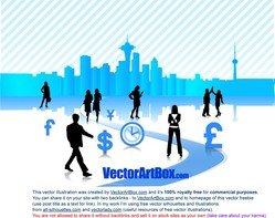 Vector Business City