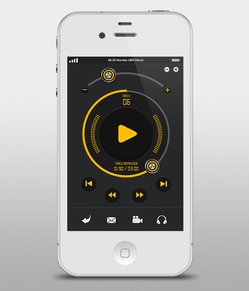 Music Player Interface for iPhone