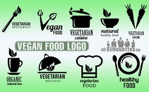 9 Vegan food logo