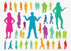 Colorful People Silhouettes