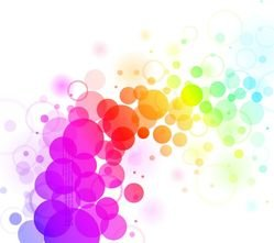 Abstract Colorful Dots Backgrond