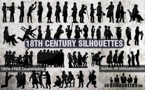 40 18th century silhouettes