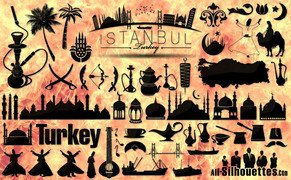 50 Turkey Istanbul vector icons