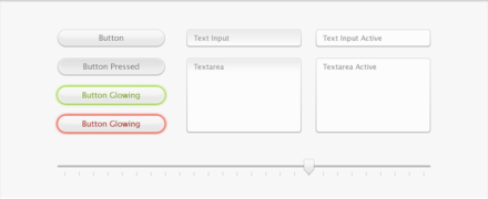 Interface Kit with Buttons, Text Fields, and Slider