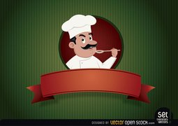 Restaurant logo With Chef