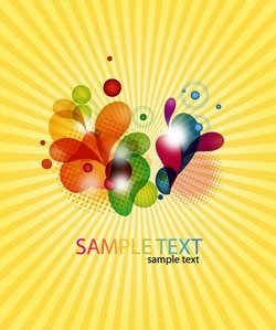 Abstract Coloured Design on Burst Background