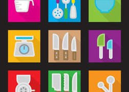 Kitchen Vector Flat Icons