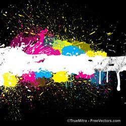 Colorful Paint Splash Background
