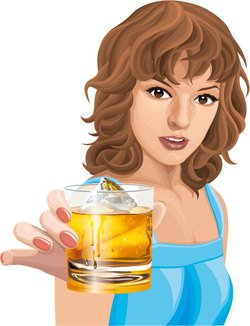 Young woman holding drink