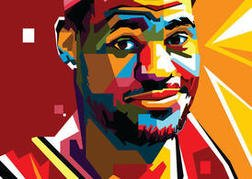 Free Lebron Vector Portrait Two