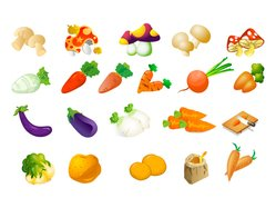 Vegetable material of the three