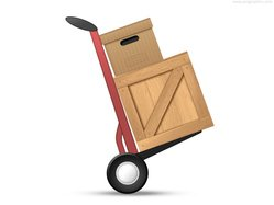 Loaded hand truck icon (PSD)