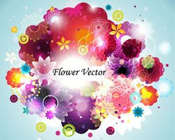 Floral vector cloud