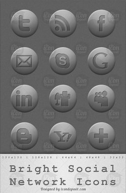 Bright Social Network Icons