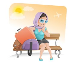 Vector Travel Girl Character