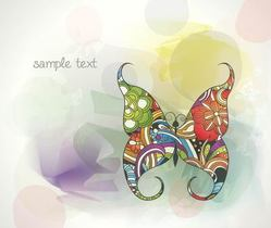 Colorful Abstract Background with Butterfly