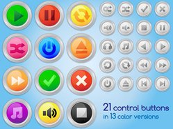 Free Audio or Video Control Buttons Vector Art