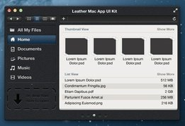 Leather Mac App UI Kit
