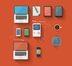 Flat Device Icons