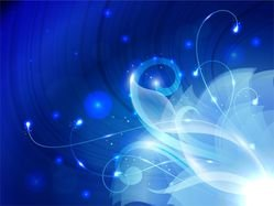 Abstract Floral Blue Background