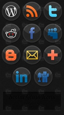 Social Glass Icons