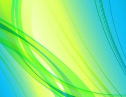 Abstract Green Blue Yellow Background