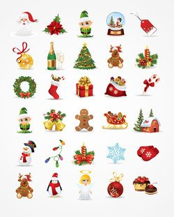 Chistmas Vector Icons (Free)