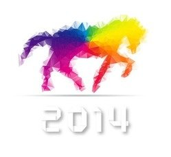 2014 Year with Colorful Horse