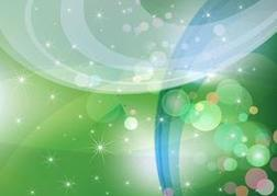 Abstract Green Sparkles Background