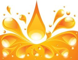 Orange Liquid Background
