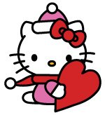 Free Hello Kitty Valentine's Day Vector Clipart
