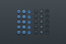 Simple Button UI (PSD)