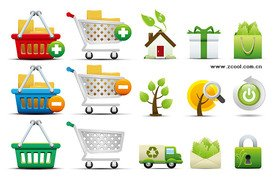 Shopping and environmental icon