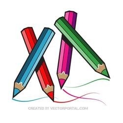 COLORED PENCILS VECTOR GRAPHICS.eps