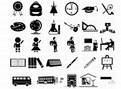 31 Free Vector Photoshop School Icons