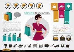 Women's fashion infographics elements