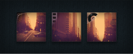 Photos, Video, and Audio Icons