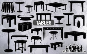 22 Vector tables clipart
