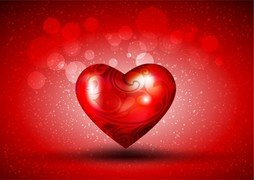Red Heart Over