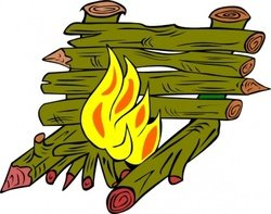 Fire Catching Wood