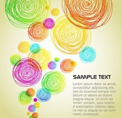 Colourful Circles Background