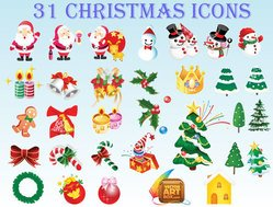 Free Christmas Icons Vector Art